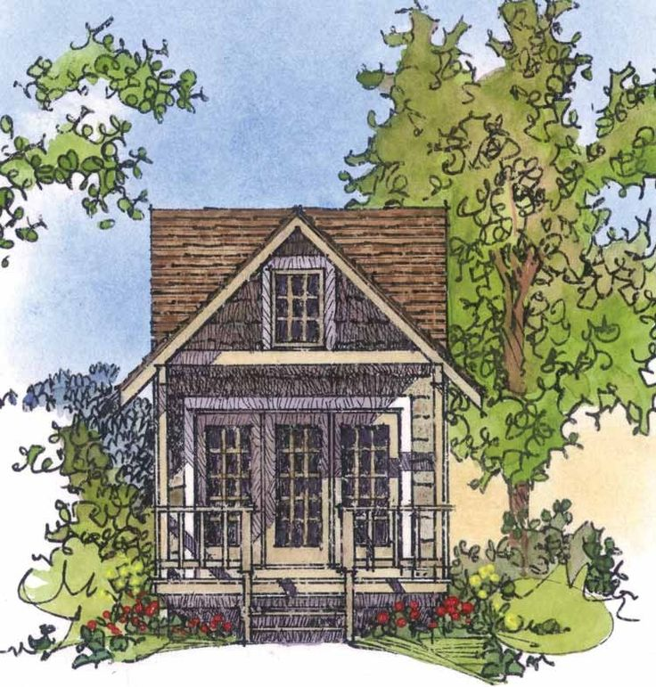 eplans country house plan rustic cottage or guest house 242 square feet and 1 bedroom from eplans house plan code
