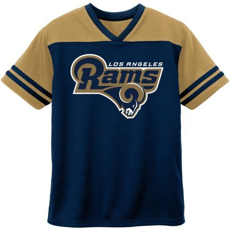 NFL Los Angeles Rams Short Sleeve Fashion Top, Size: 12M, Blue