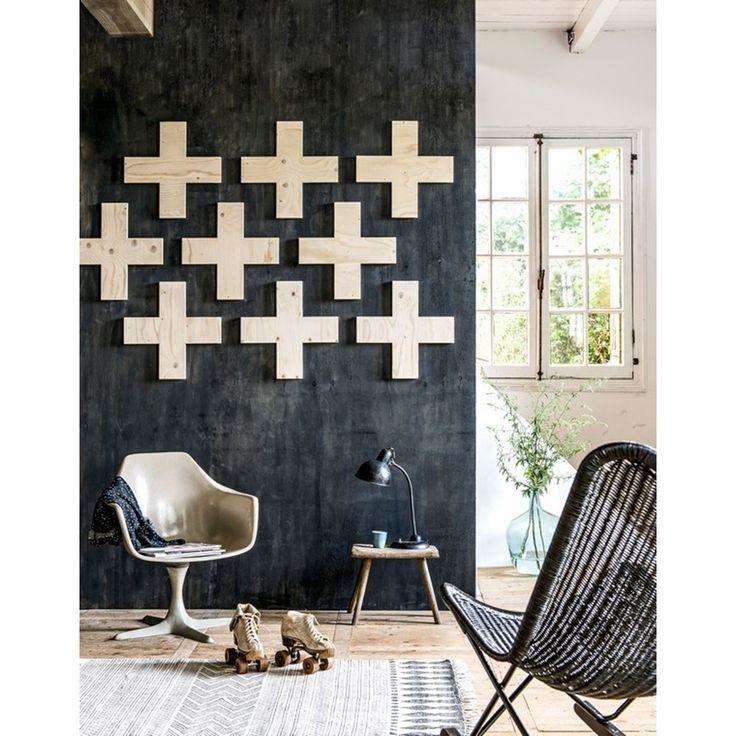 House Doctor Block Rug Black / White - 160 x 230 cm