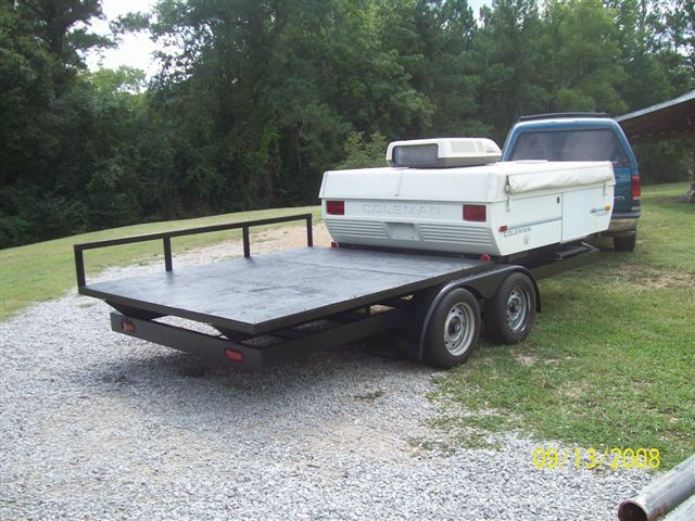 put camper on utility trailer - Google Search | 2Compact travel | Pinterest | Utility trailer ...