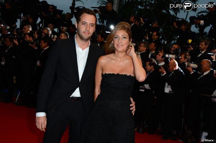Amanda Sthers prend la pose avec son compagnon Thierry Weinberg à l'ouverture du 66e Festival de Cannes au Palais...