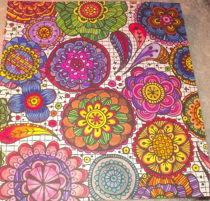 Finished Adult Coloring Pages Zenspirations Color Mandala Inspiration Colored