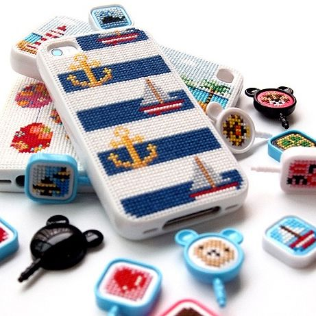 Needlepoint iPhone Case! They have beautiful designs and you can design your own! :)