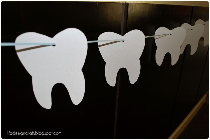 Great decorations for a dental office or dental school graduation party.