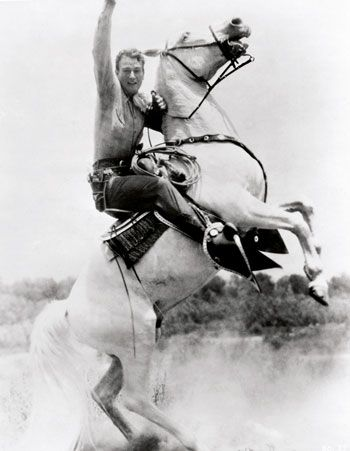 "photo from new book: ""John Wayne: The Legend And The Man"":"