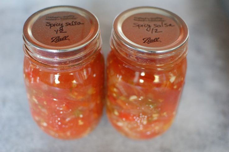 how to make canned salsa sauce