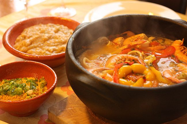 seafood stew will sub palm oil for coconut oil and reduce fish stock ...