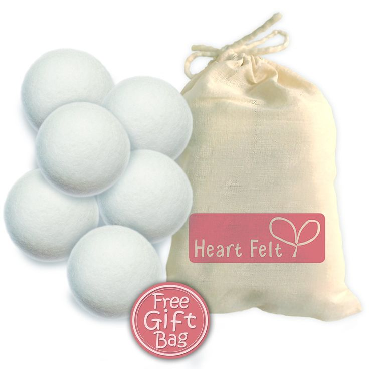 Amazon.com: Six Wool Dryer Balls By Heart Felt - The BEST RATED Dryer Ball Brand on Amazon! 100% Pure Organic Wool to the Core ~ Perfect for Cloth Diapers ~ Perfect Gift Idea!: Health & Personal Care