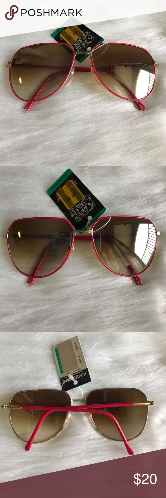 Vintage Deadstock Sunglasses 🕶 Vintage Deadstock Foster Grant sunglasses. Red framed aviators. Excellent condition. Smoke Free Home 🏡 Foster Grant Accessories Sunglasses