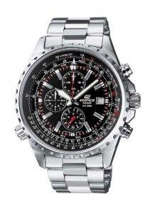 CASIO-EF-527D-1AVEF-Edifice-Reloj-de-caballero-de-cuarzo-correa-de-acero-inoxidable-color-gris-oscuro-con-cronmetro-0