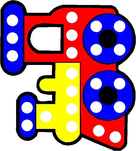 Train Dot Art -- for dot markers