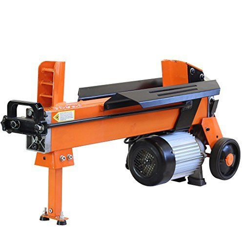 Forest Master's electric log splitter is a sturdy log splitter capable of splitting logs up to 470mm in length. The log splitter is set to 7ton splitting power. The unit is supplied fitted with the duocut blade allowing the splitter to cut through the logs at either side. It has a simultaneous button and lever operation so that it cannot be operated one handed, making it compliant with the latest safety regulations.