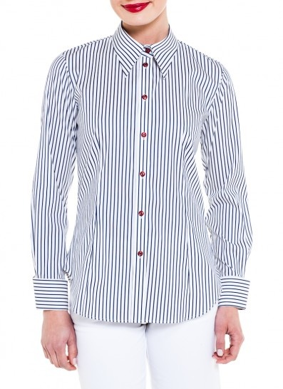 Mr.Rose Easy Rider Stripe Shirt in navy $169