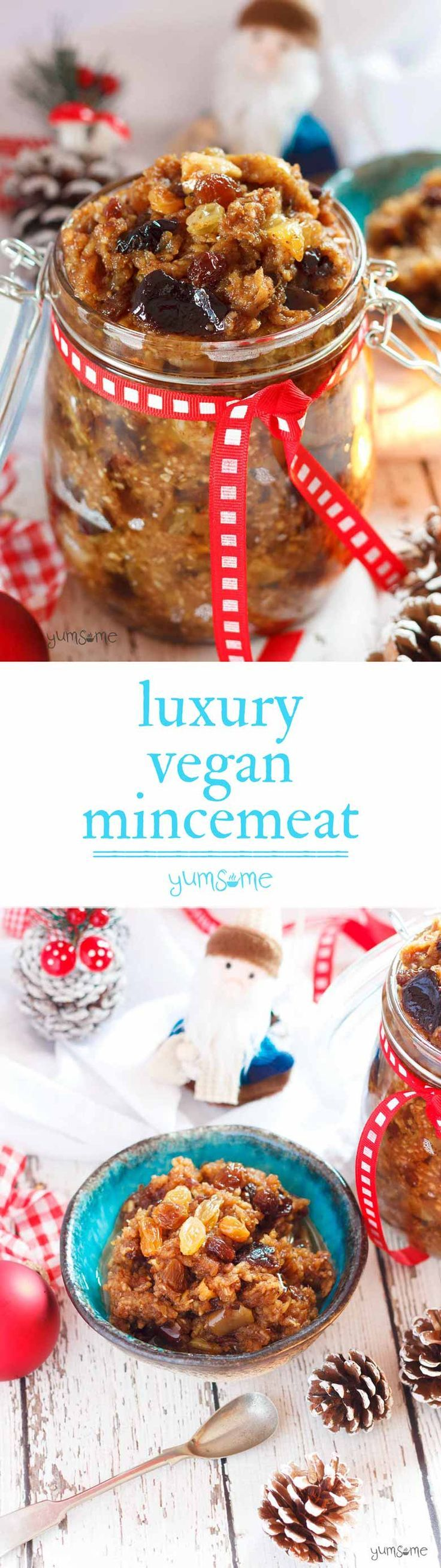 My luxury vegan mincemeat may be a traditional British Christmas favourite but it's packed with ingredients from my past six years of living all over the world. | yumsome.com via @yums0me