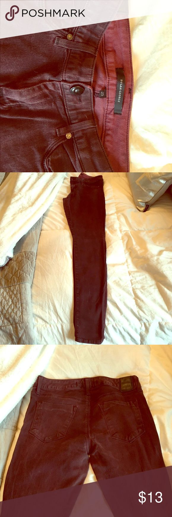 Dylan George size 29 maroon skinny jeans Dylan George size 29 maroon skinny jeans. Weathered looking. Worn twice. dylan george Jeans Skinny