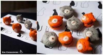 Kitty cat macarons from Macaron Fetish: Cats Cats, Cats Macaron, Kitty Cats, Cats 3, Tweets Challenges, Cats Power, Macarron Macarron, Mac Tweets, Macaron Fetish