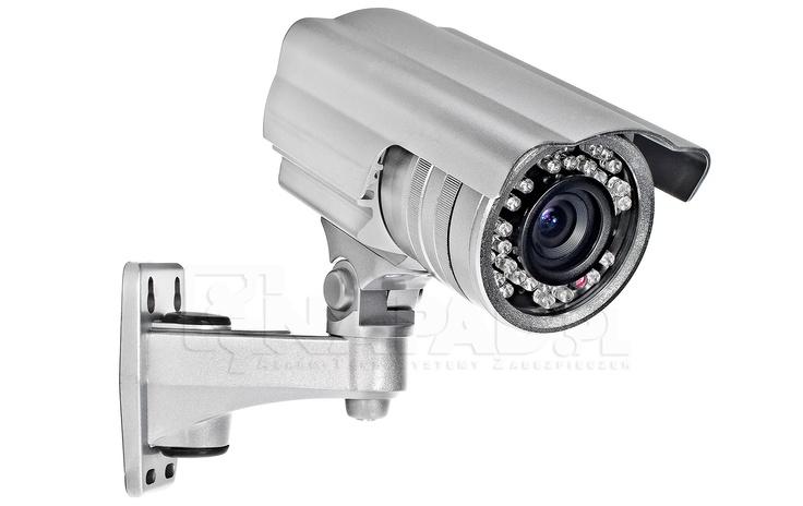 Kamera przemysłowa z oświetlaczem podczerwieni AT VI548. Przetwornik 1/3 SONY 480TVL Obiektyw 4-9mm Funkcje: AWB AGC AES.   Kamera z promiennikiem IR to wysokiej klasy kamera do monitoringu wizyjnego, która idealnie sprawdzi się w całodobowej obserwacji funkcjonując zarówno wewnątrz, jak i na zewnątrz obiektów. Regulowany obiektyw kamery pozwala na samodzielne określenie zakresów i kątów prowadzonej obserwacji. Kamera posiada wysoką klasę szczelności IP66. Zobacz więcej kamer…