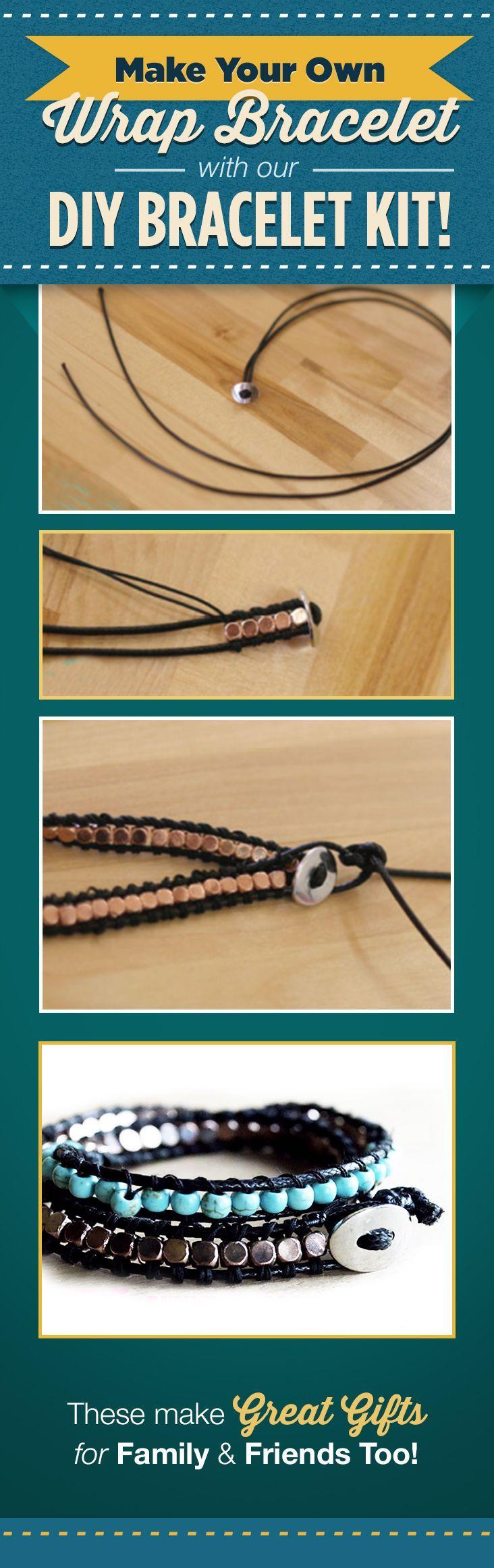 Make your own Wrap Bracelet with our DIY Bracelet Kit by DIY Ready at diyready.com