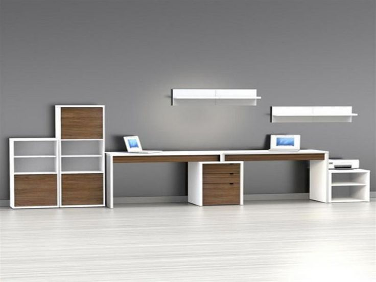 2 Person Desk With Shelves