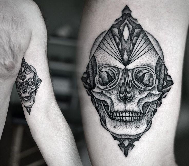 Kamil Czapiga - Poland skull gang tat