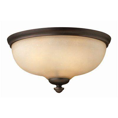 Hinkley Lighting 4171VZ 3 Light Thistledown Flush Mount Ceiling Light, Victorian Bronze