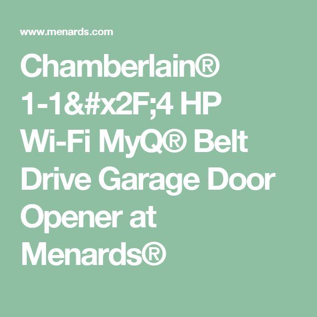 Chamberlain® 1-1/4 HP Wi-Fi MyQ® Belt Drive Garage Door Opener at Menards®