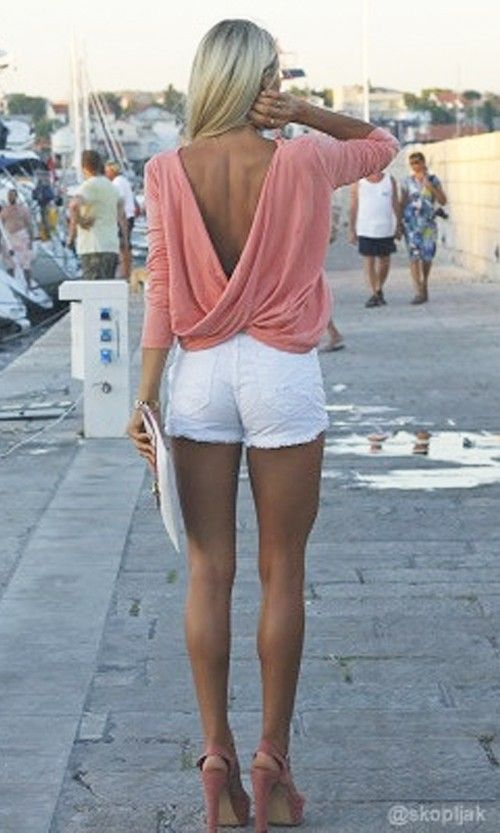 in tight Hot white girls shorts sexy