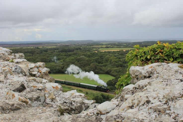 The view from Corfe Castle in Dorset...feels like the setting of a famous five story