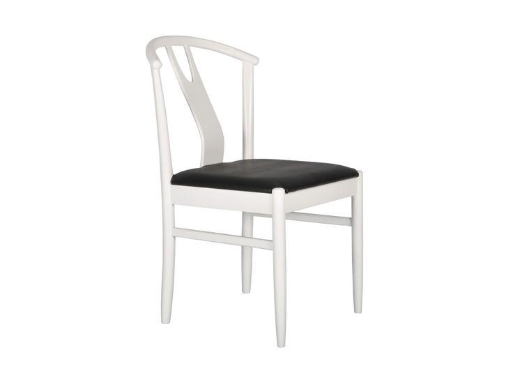 HUGO Stol 2-pack Vit/Svart i gruppen Inomhus / Stolar hos Furniturebox (100-13-84206)