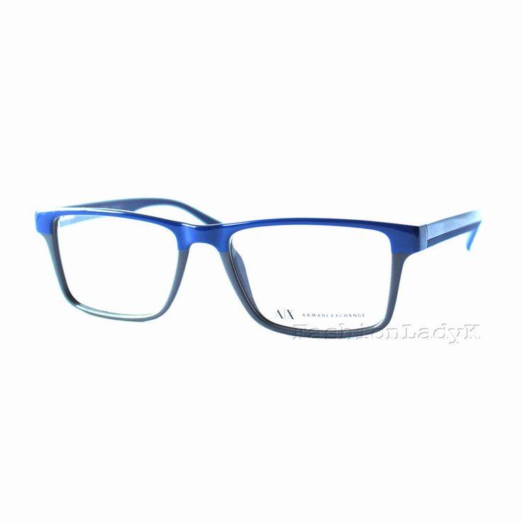 Armani Exchange AX Blue Gray Men's Optical Eyeglasses Frame AX3011 8070 w/ Case | Health & Beauty, Vision Care, Eyeglass Frames | eBay!