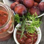 Plommonchutney med tomat och lök