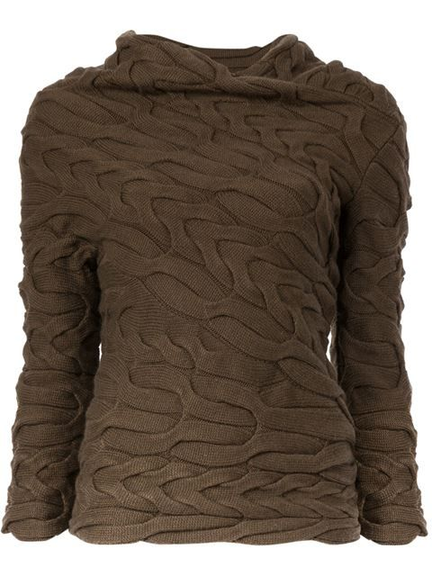 Alexander McQueen свитер вязки косичкой