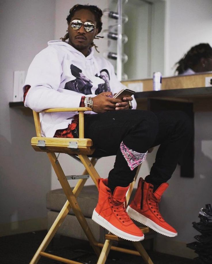 Future Rocks Jimi Hendrix Hoodie And Fear Of God Infrared Sneakers