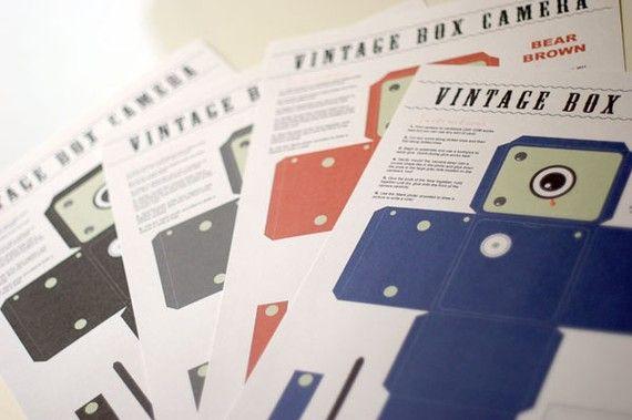 Printable Vintage Box Camera Papercraft - PetaPixel