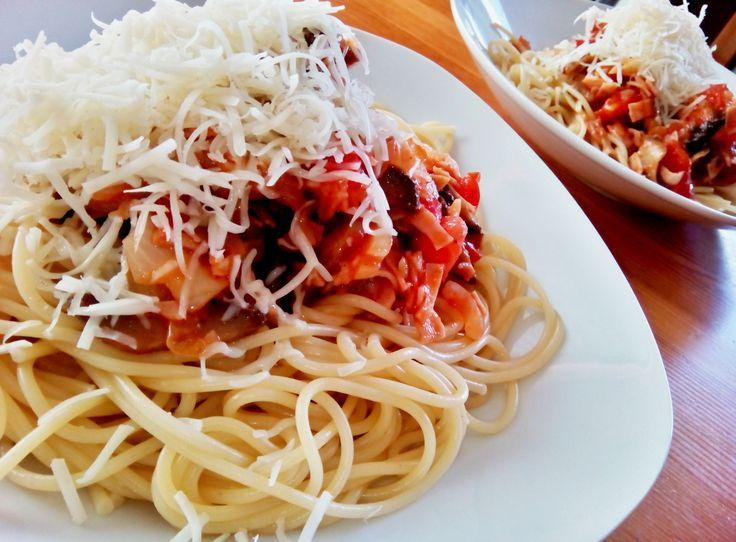 Špagety podľa tradičného receptu mojej mamy via @akademiakrasy