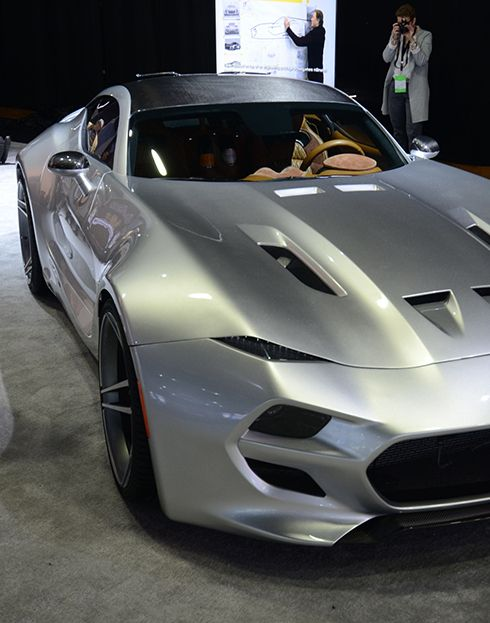 Despite worries of Aston Martin similarities, this was definitely 'born in the USA'.  Henrik Fisker Unveils 745bhp, Viper-engined Force 1 at Detroit 2016.