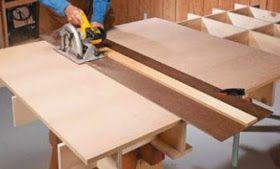 Para corte de chapas inteiras, (grandes), a serra circular de mesa nem sempre é o mais adequado, o mais comum é se utilizar a serra circular...