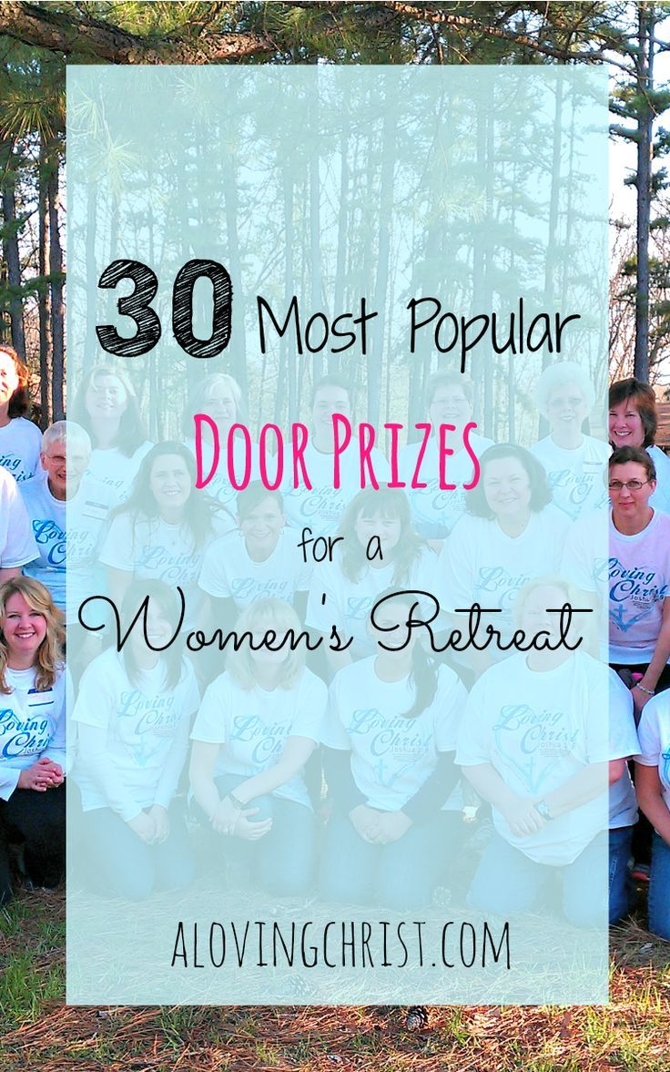 Door prize time brings giggles and cheers and helps the ladies feel extra special. Here are our 30 most popular door prizes for women's retreats.