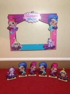 Shimmer And Shine Party Picture Frame And Stand Up Centerpiece Set