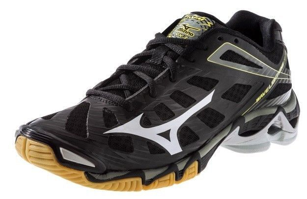 Mizuno 430169 Men's Wave Lightning RX3 Volleyball Shoes - Black/Silver Size 8