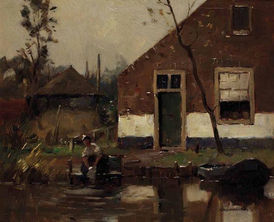 Piet Mondrian - Lavandières près du canal