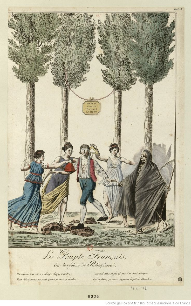Le Peuple Français, Où le régime de Robespierre : [estampe] / [A. Chataignier ?]