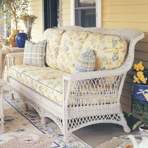 White wicker sofa (1) From: American Country, please visit