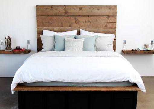 1000 ide tentang chambre coucher adulte di pinterest for Meuble avec bois de grange