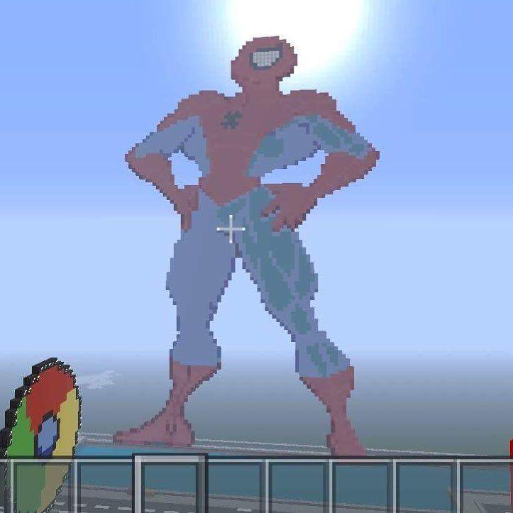 Spider-Man ! #spiderman #webhead #avengersinfinitywar #marvel #comics #cardcollector #mojang  #minecraft #ps4 #creative #pixelart