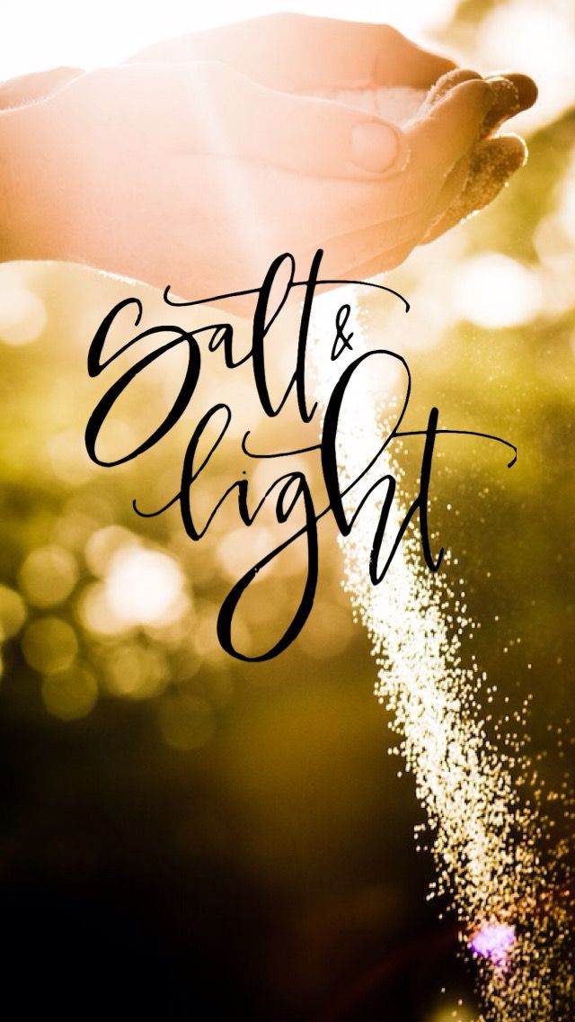 "Matthew 5:13-14 Believers Are Salt and Light 13 ""You are the salt of the earth; but if the salt loses its flavor, how shall it be seasoned? It is then good for nothing but to be thrown out and trampled underfoot by men. 14 ""You are the light of the world. A city that is set on a hill cannot be hidden."""