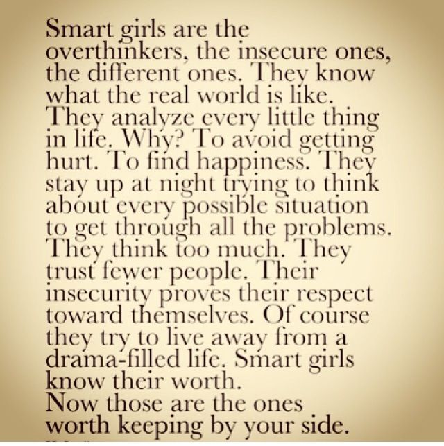 smart girls are the overthinkers - Google Search