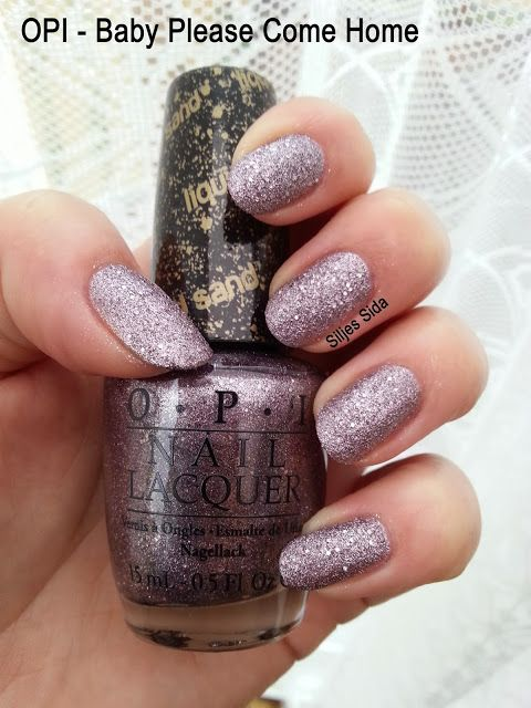 Liquid sand swatch OPI - Baby Please Come Home