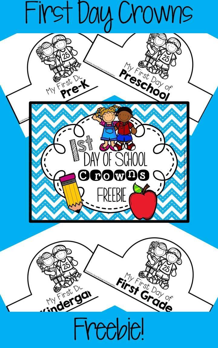 FREEBIE! Includes crowns for preschool, pre-k, kindergarten, 1st grade and 2nd grade.