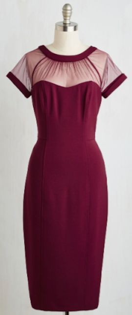 pretty mesh top fitted dress